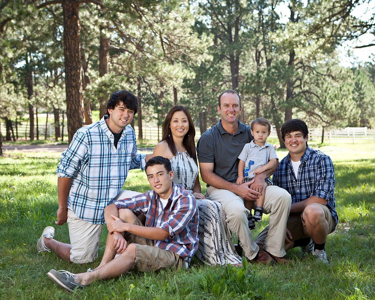 Andy, Yukie, and their four sons