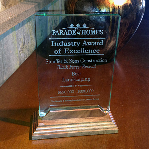 Stauffer & Sons Wins Parade of Homes Award