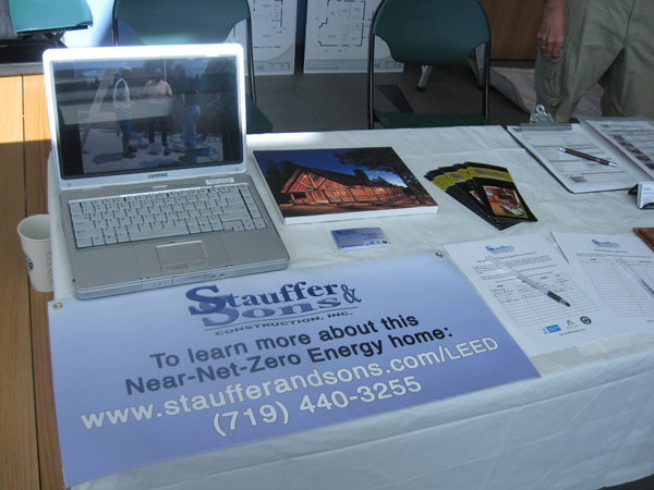 This was our table. We had our Fox21 News clip on a loop, and had a signup sheet for our Open House this Fall.