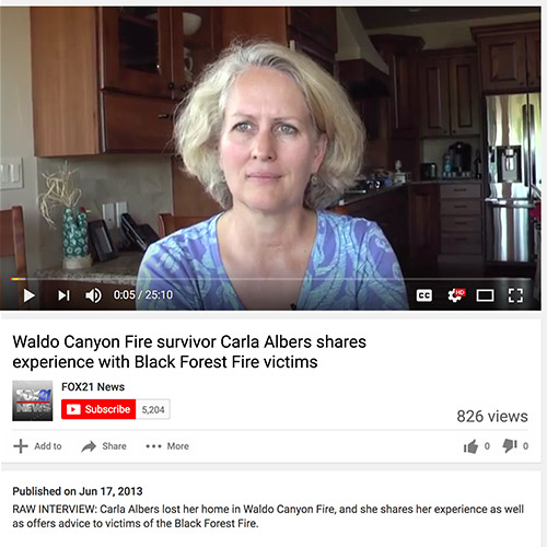 Waldo Canyon Fire Survivor Offers Advice for Black Forest Fire Survivors